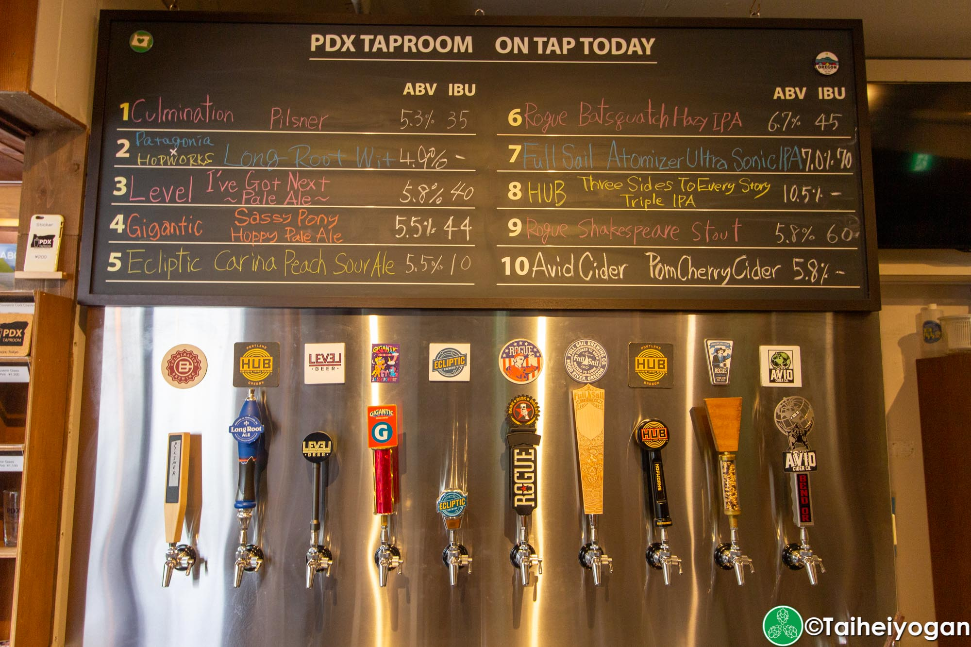 PDX Taproom - Interior - Beer Taps