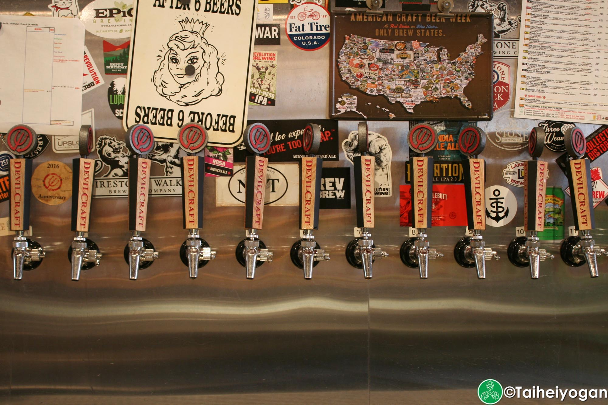 DevilCraft (Hamamtsucho・浜松町店) - Interior - Beer Taps