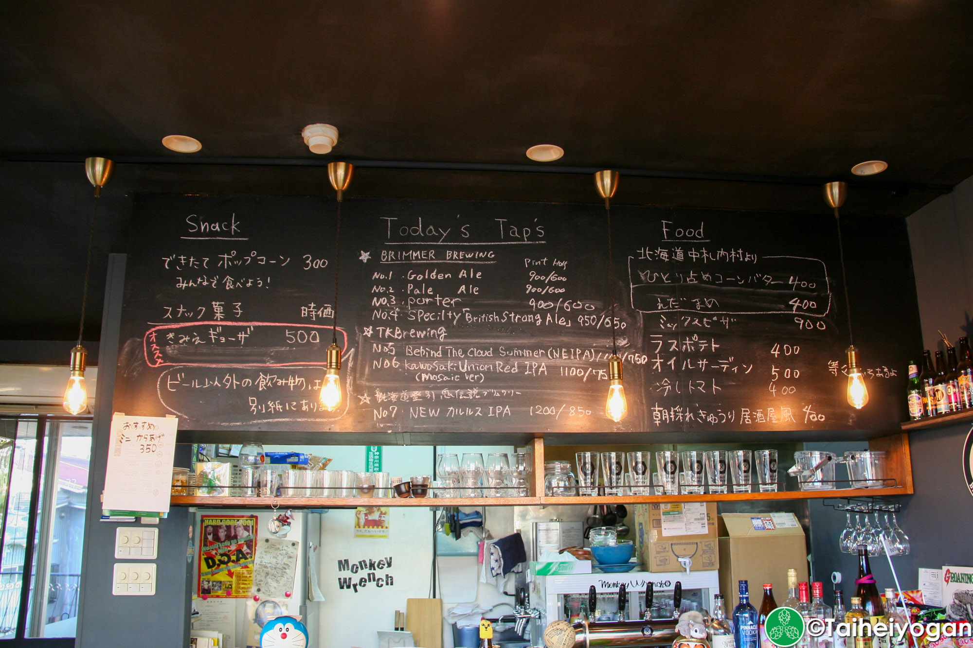 Monkey Wrench - Interior - Menu