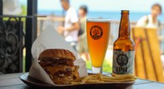 Chatan Burger Base Atabii's - Menu - Neo Bacon Cheeseburger & Okinawa Sango Beer