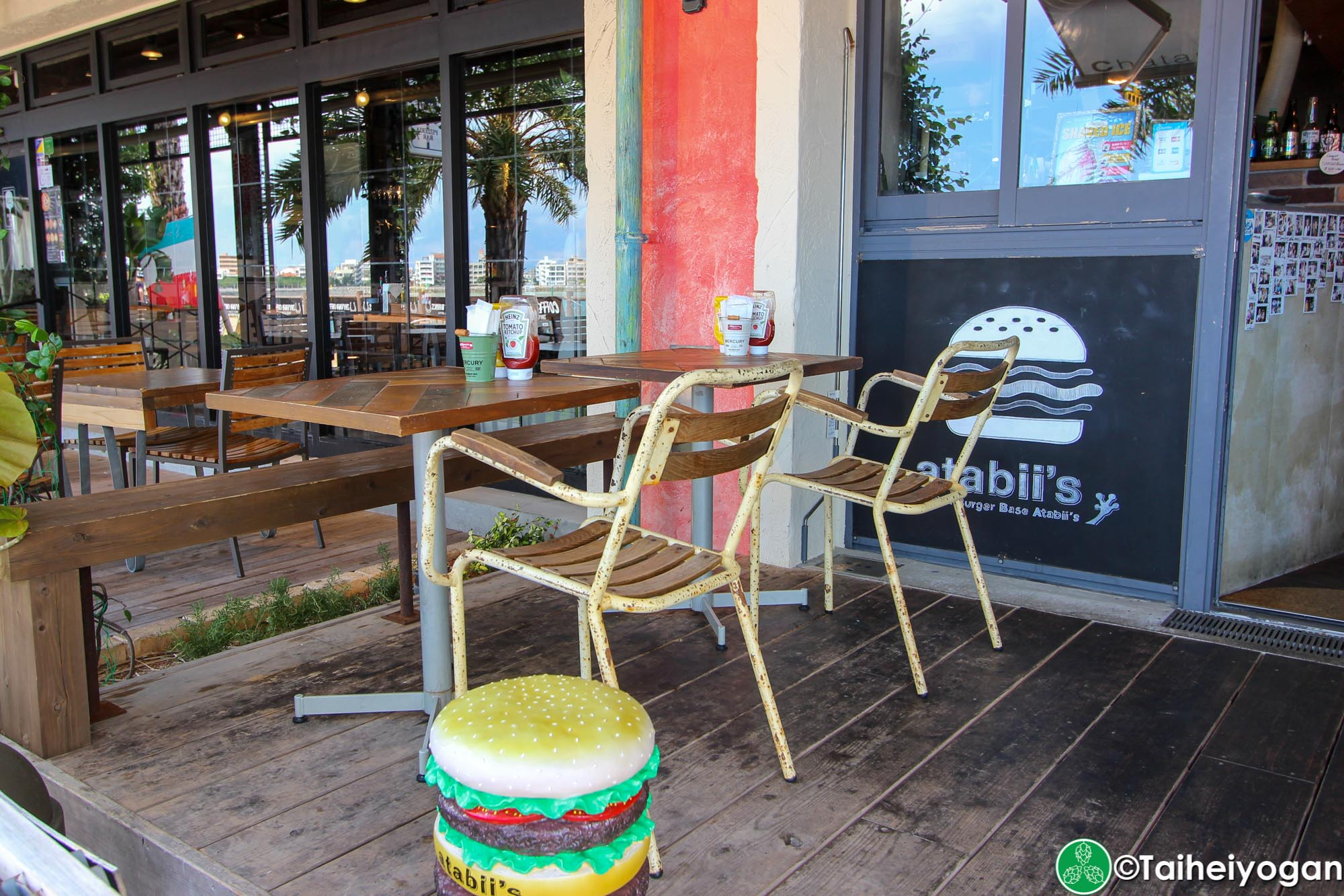 Chatan Burger Base Atabiis - Outdoor Seating