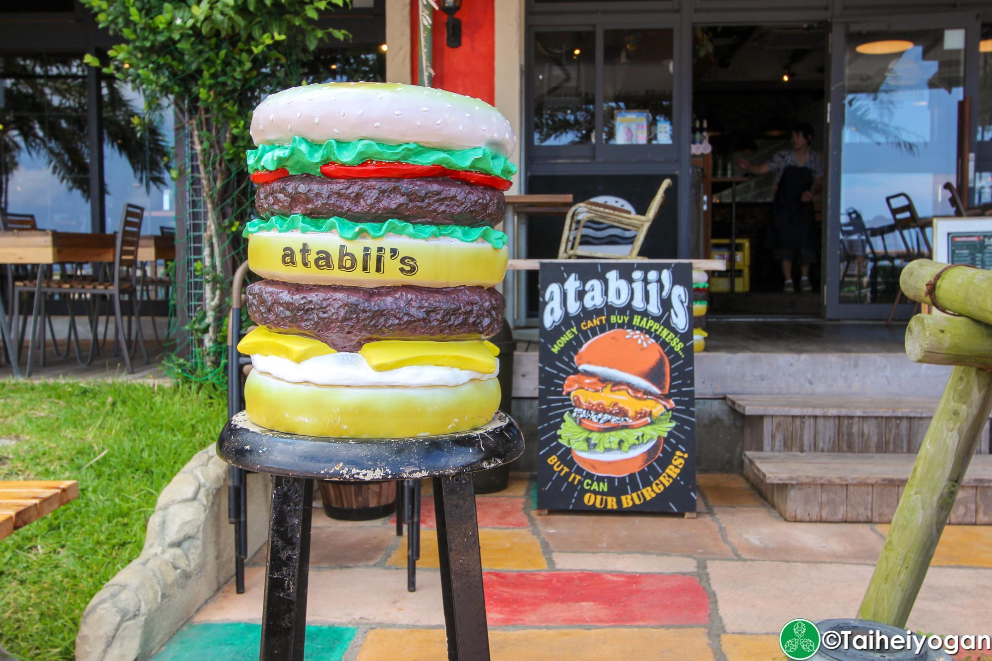 Chatan Burger Base Atabii's - Sign