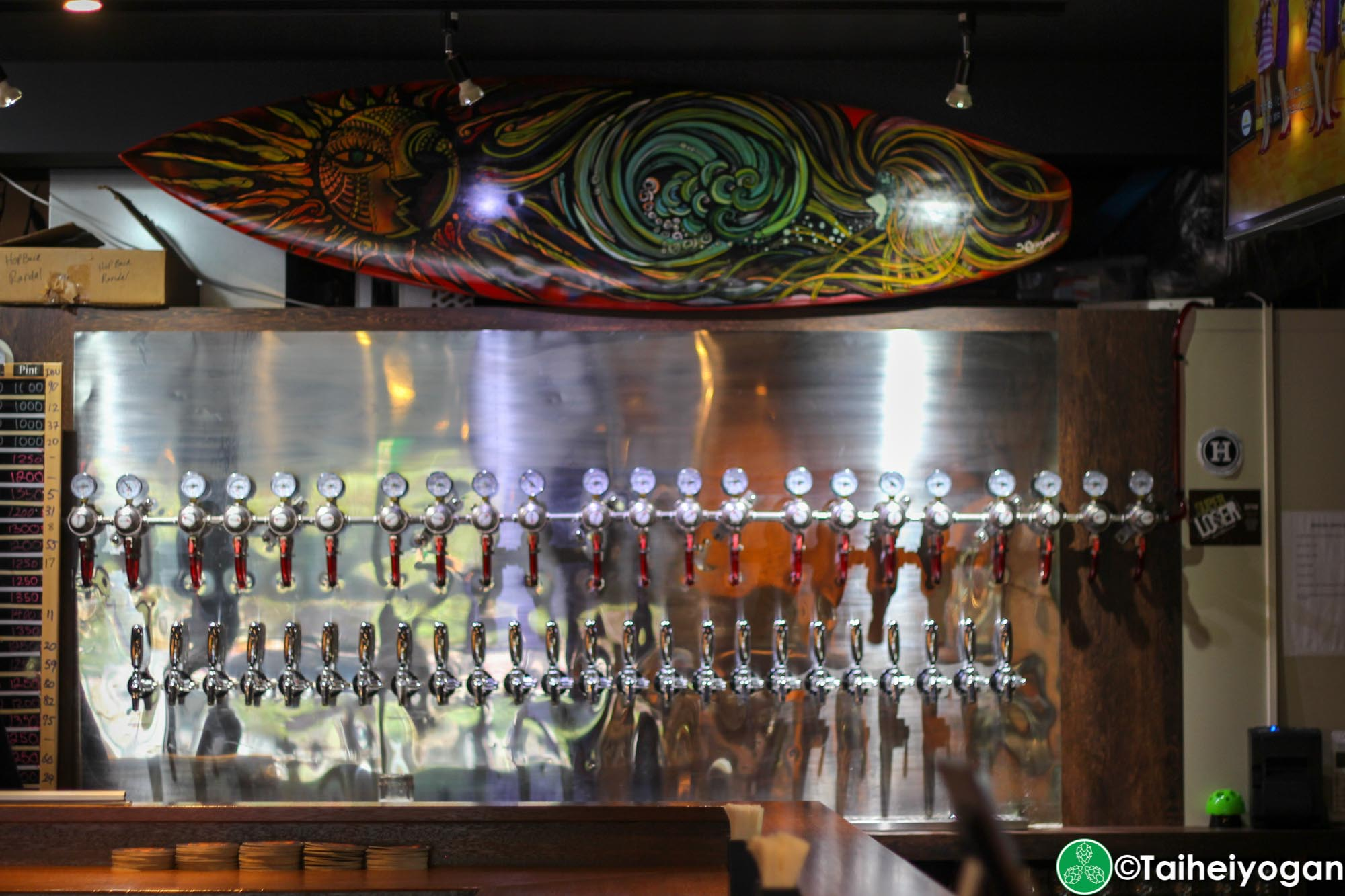 Okinawa Brewing Company - Interior - Beer Taps