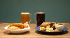 Taste of Okinawa - Menu - Eisbein, Fish & Chips, and Beer