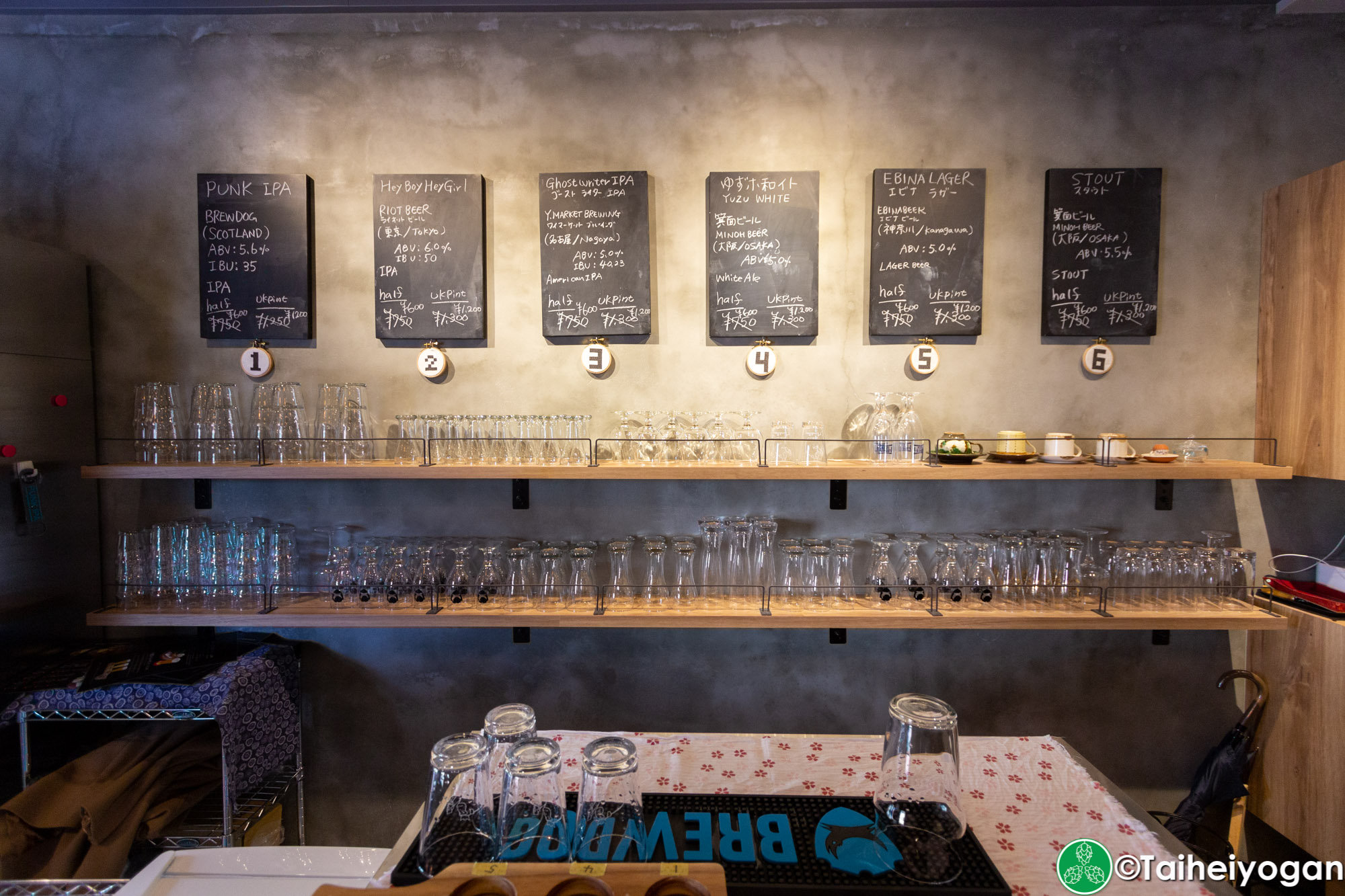 Beerbar Felt - Interior - Craft Beer Menu