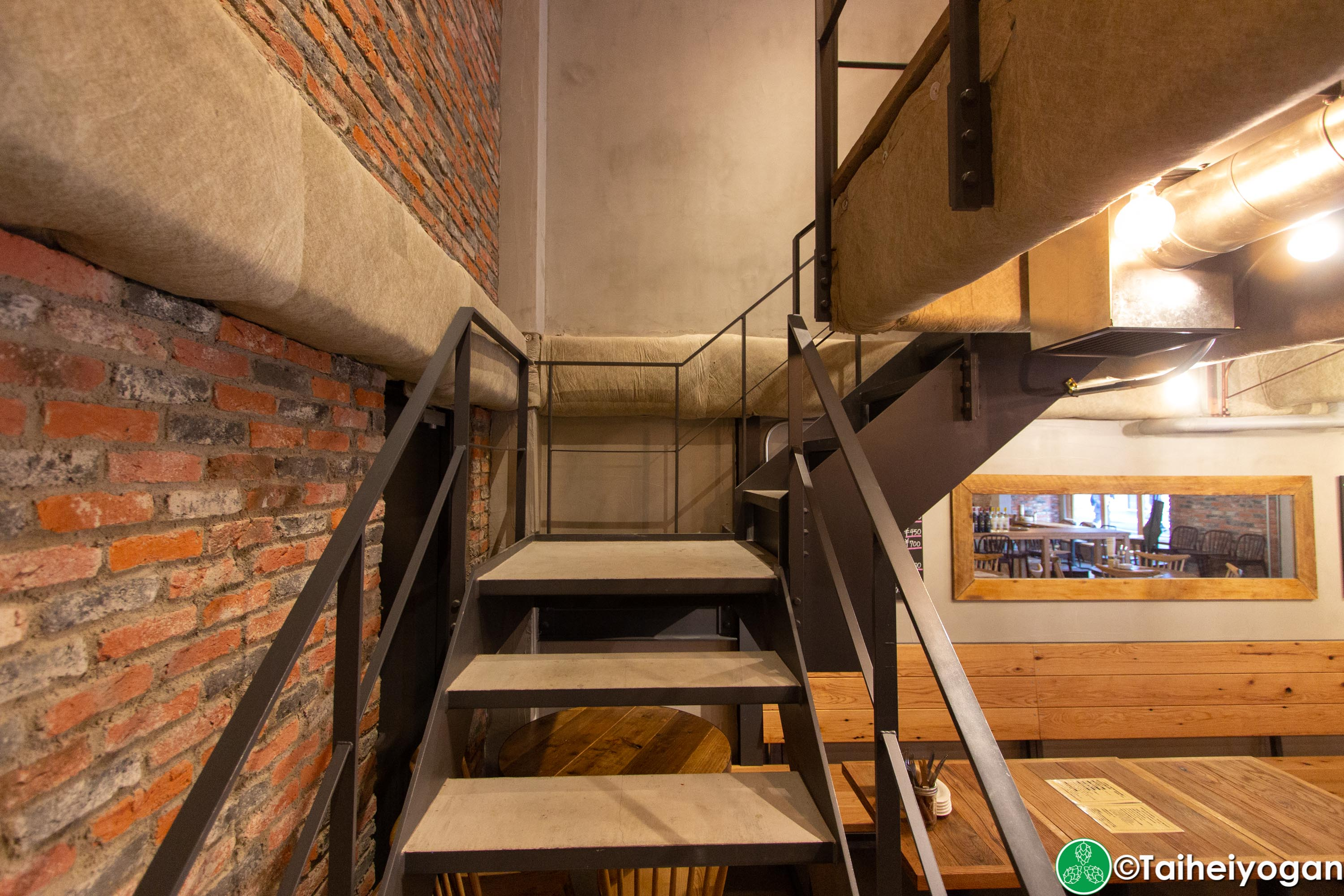 Tokyo Butchers & Okachi Beer Lab - Interior - Stairs to Party Room