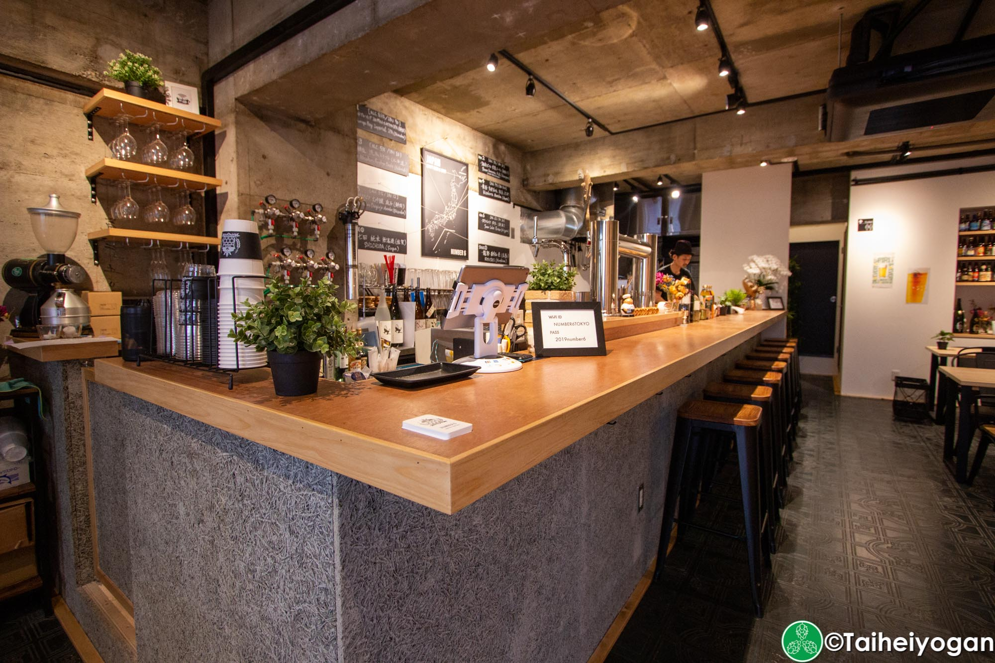Number 6 - Interior - Bar Counter
