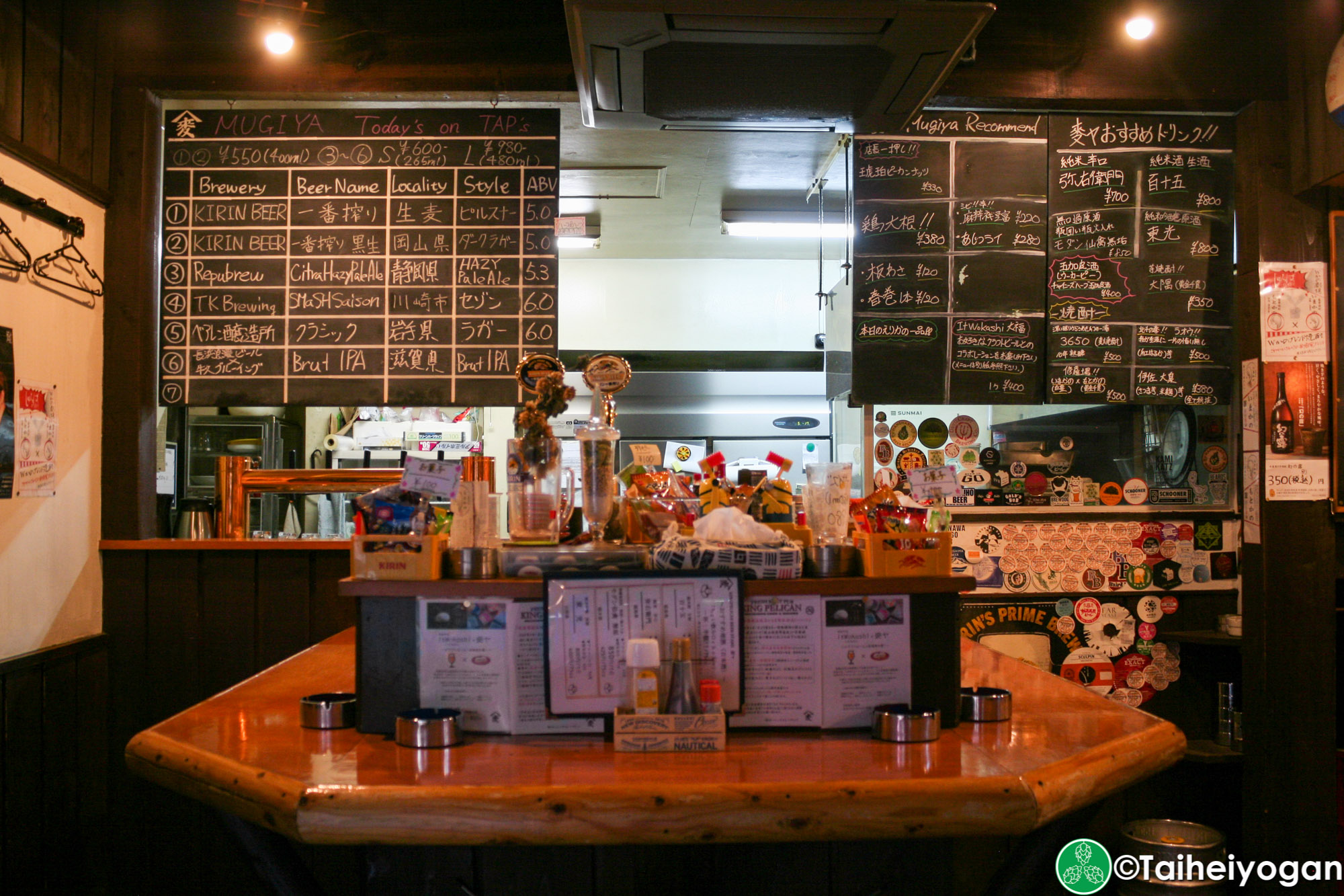 KINGPELICAN BEER STAND 麥ヤ・KINGPELICAN BEER STAND Mugiya - Interior - 1F Bar Counter Seating